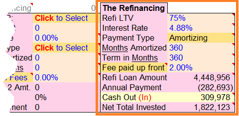 Apartment Building Refinance Calculator