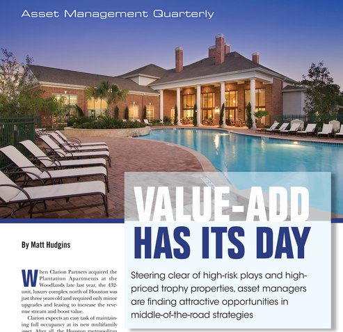 For Apartment Builidng Investors Value Add Has Its Day
