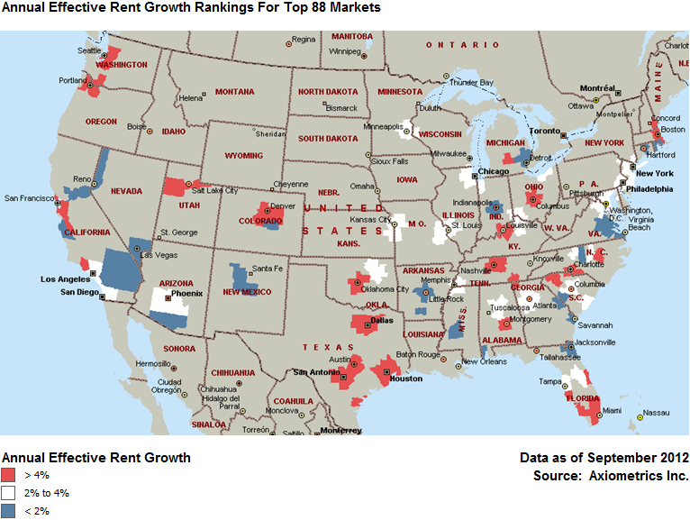 Apartment Building Investment Smile Cities Red Hot With Rent Growth