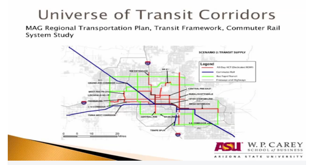 PHoenix transportation corridors will drive drive housing development