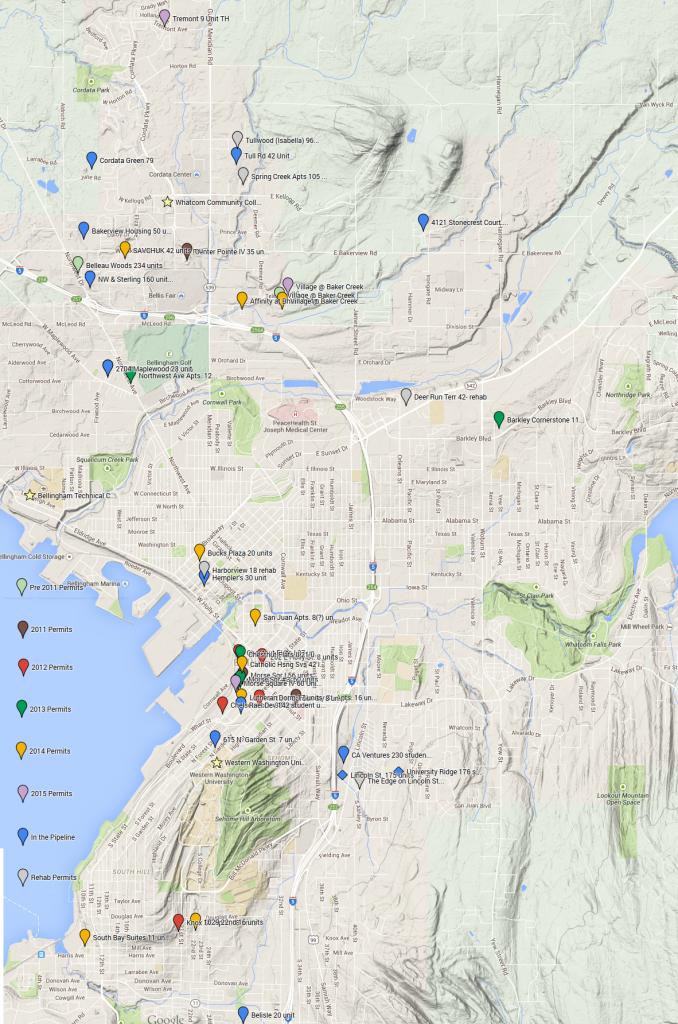 Bellingham Apartment Development Map May 2015